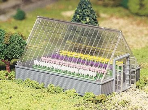 Bachmann Plasticville O 45615 Greenhouse Kit with Flowers