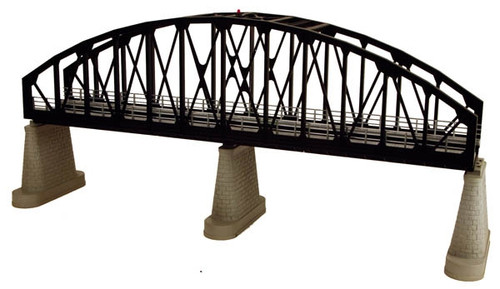 MTH RealTrax O 40-1105 Single Track Steel Arch Bridge, Black
