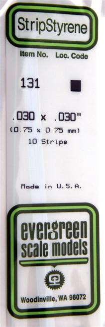 "Evergreen Scale Models 131 Strip .030"" x .030"" (10)"