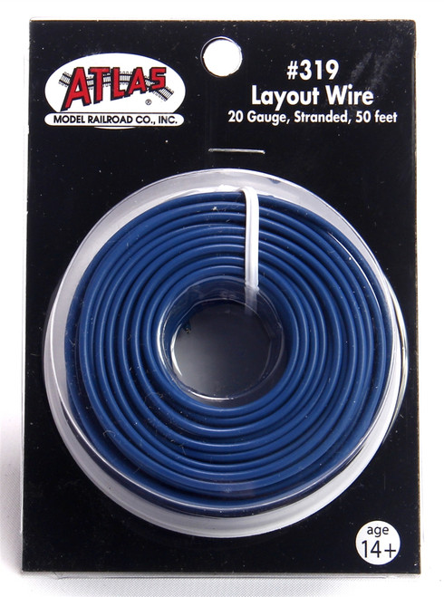 Atlas 319 50' Blue 20 Gauge Stranded Layout Wire