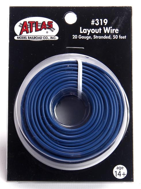 Atlas 319 50' Blue 20 Gauge Stranded Layout Wire