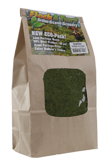 Scenic Express EX882E Flock and Turf Ground Cover, Scrub Grass Blend 48 oz. ECO Pack