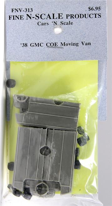 Fine N Scale 313 '38 GMC COE Moving Van Kits (3)