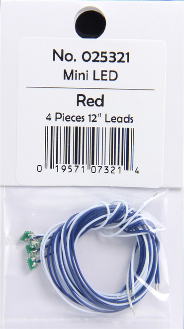 """MRC 025321 Light Genie Surface Mounted LED, Mini Red with 12"""" Leads (Pack of 4)"""