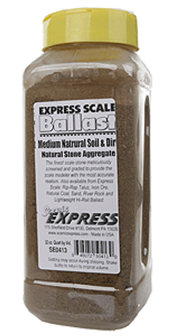 Scenic Express SE0413 Natural Soil and Dirt, Medium (32 oz.)
