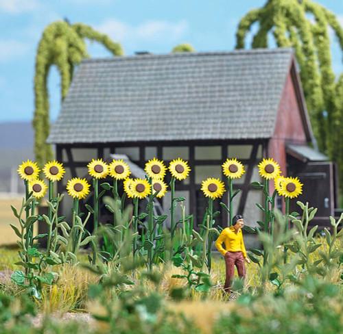 Busch HO 1261 Sunflower Field Set