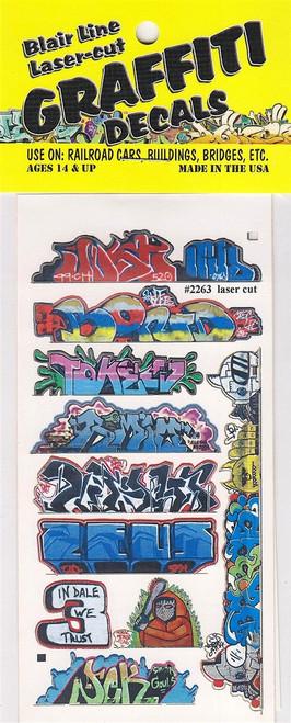 Blair Line HO 2263 Graffiti Decals Mega Set #14