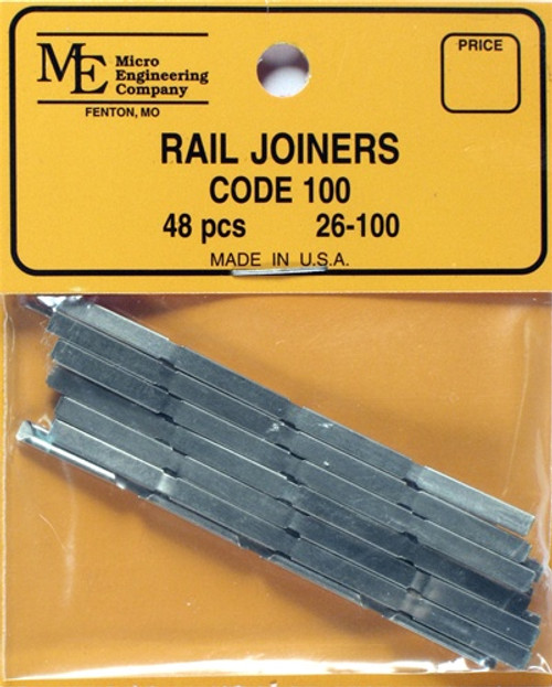 Micro Engineering HO 26-100 Code 100 Rail Joiners (48)