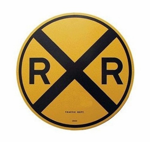 Microscale 10201 Railroad Crossing Aluminum Sign, Round