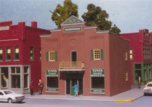 Smalltown USA HO 699-6000 Town Bank (Formally Tina's Tart Shoppe) Kit