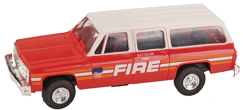Trident Miniatures HO 90064A Chevrolet Suburban, Fire Deparment of New York (FDNY) Fire Chief