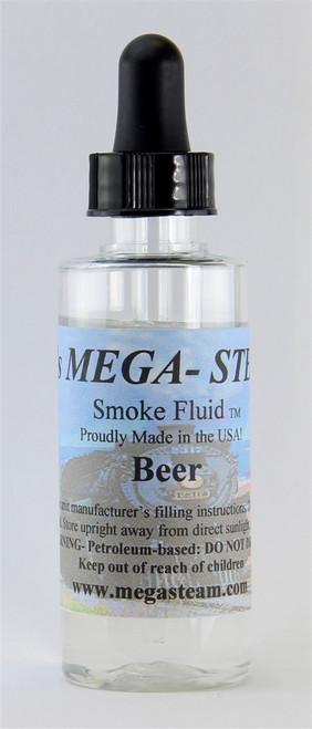 JT's Mega Steam O/HO BEER Smoke Fluid 2 Oz. Bottle, Beer
