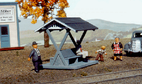 American Model Builders HO 137 Pacific Electric Passenger Shelter