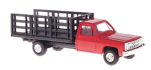 Trident Miniatures HO 901533 Chevrolet Pickup with Stakebed Body, Red
