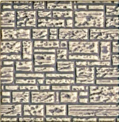 Chooch HO 8526 Flexible Block Wall Sheet, Medium for HO Scale