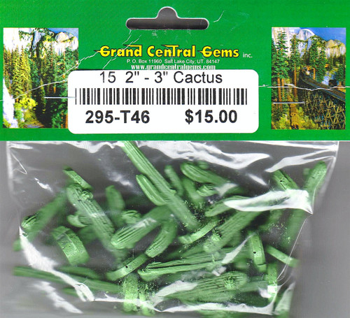 "Grand Central Gems T46 Cacti, 2-3"" (15)"