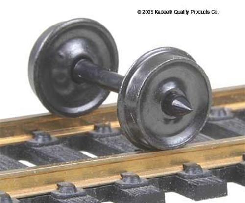 "Kadee HO #520 33"" Diameter Smooth Back Freight Wheelsets (12 sets)"