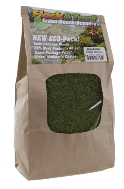 Scenic Express EX884E Flock and Turf Ground Cover, Alpine Meadow Blend 48 oz. ECO Pack