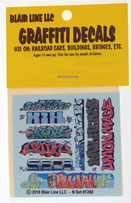 Blair Line N 1260 Graffiti Decals Mega Set #11