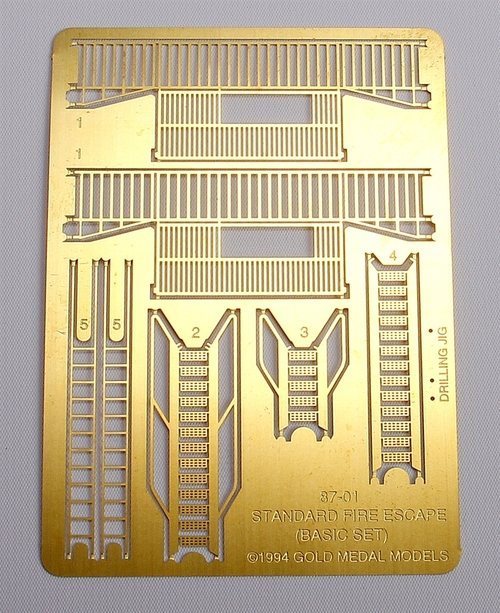 Gold Medal Models HO 87-01 Standard Fire Escape Kit, Three Story Basic Set