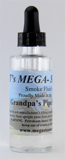 JT's Mega Steam O/HO GPASPIPE Smoke Fluid 2 Oz. Bottle, Grand Pa's Pipe