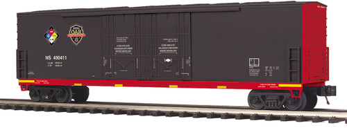 """MTH Premier O 20-93698 50' Double Door Plugged Box Car, Norfolk Southern """"First Responders Hazmat Safey Train"""" #490411"""