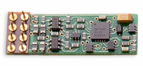 Digitrax N/HO DN146IP 1-Amp Scale Integrated DCC Medium Plug Mobile Decoder