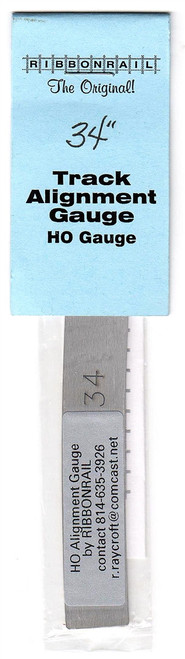 "Ribbon Rail HO 34 5"" Track Alignment Gauge, Curved 34"" Radius"