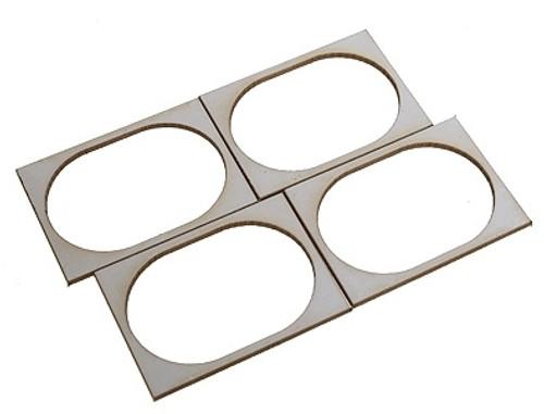 "SoundTraxx 810139 28mm x 40mm (1.10236"" x 1.5748"") Oval Speaker Gasket Kit (4-Pack)"