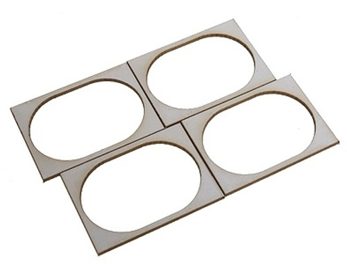 "SoundTraxx 810139 28mm x 40mm (1.10236"" x 1.5748"") Oval Speaker Gasket Kit (4-Pack)"