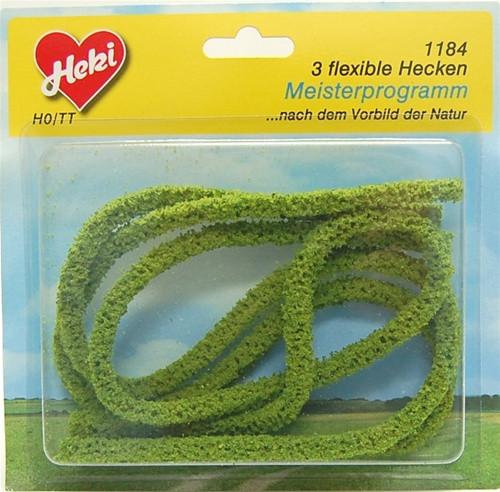 "Heki Trees and Shrubs 1184 Flex Hedge Row Light Green (3/8"" x 3/8"" x 30"")"
