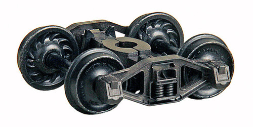 Kadee HO 1572 Bettendorf T-Section HGC Trucks with Ribbed Back Code 88 Metal Wheels (1 Pair)