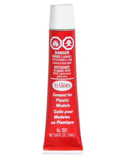 Testors 3501 Cement for Plastic Models, 5/8 oz.