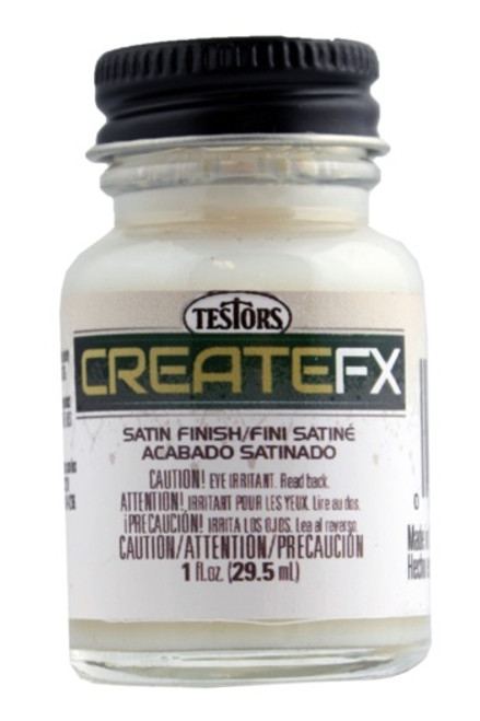 CreateFX 79501 Acrylic Satin Clear Finish, Semi-Gloss (1 oz. Bottle)