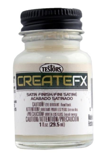 CreateFX 79501 Acrylic Satin Clear Finish, Semi-Gloss (1 oz. Bottle)