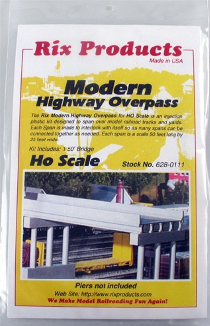 Rix Products HO 628-0111 Modern Highway Overpass Kit