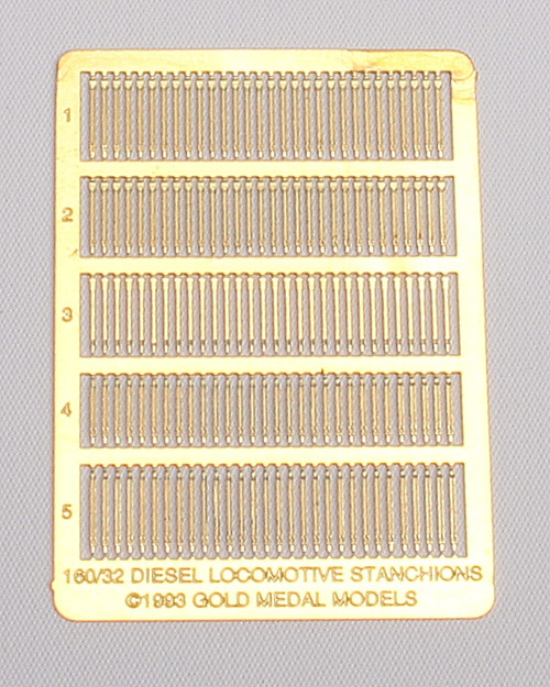 Gold Medal Models N 160-32 Diesel Locomotive Stanchions (150 Handrail Stanchions in 5 Styles)
