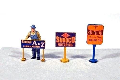 JL Innovative Design HO 475 Gas Station Curb Signs, Sunoco (3)