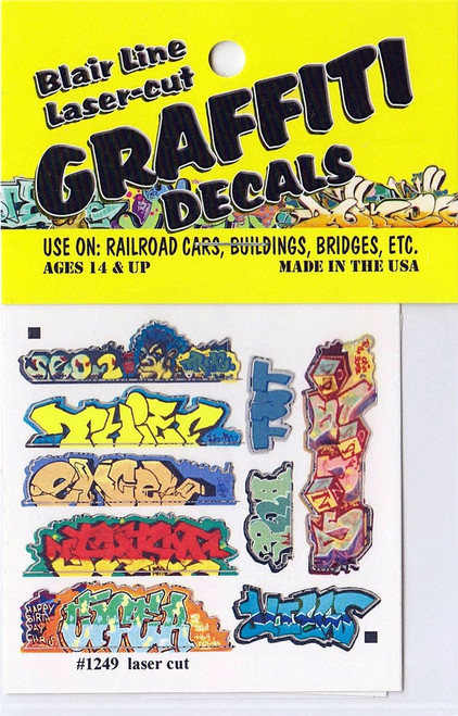 Blair Line N 1249 Graffiti Decals Mega Set #6
