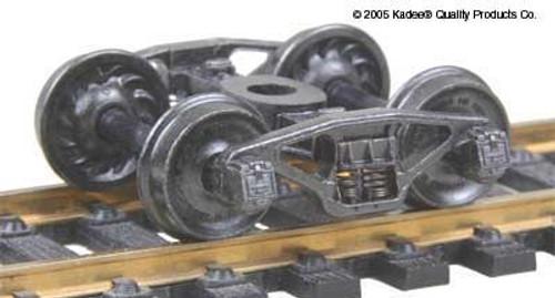 """Kadee HO #517 Pennsylvania 2D-F8 50-Ton Trucks with 33"""" Ribbed Back Wheels"""