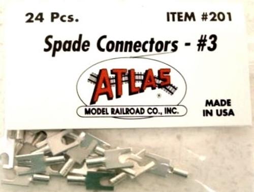 Atlas 201 #3 Spade Connectors (24)