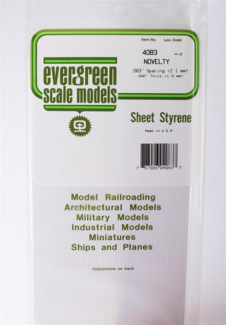 "Evergreen Scale Models 4083 .083"" Novelty Drop Siding"