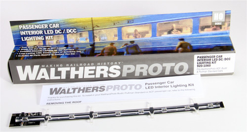 Walthers Proto HO 920-1060 Passenger Car Interior Constant-Intensity LED Lighting Kit (Fits Walthers Proto ACF, Budd and P-S Cars)
