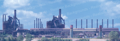 "Realistic Backgrounds 704-14 Open-Hearth Furnace Scene 13"" x 38"""