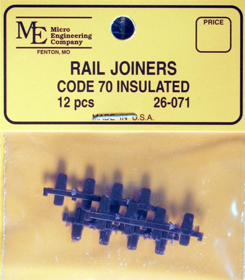 Micro Engineering HO 26-071 Code 70 Plastic Insulated Rail Joiners (6 Pair)
