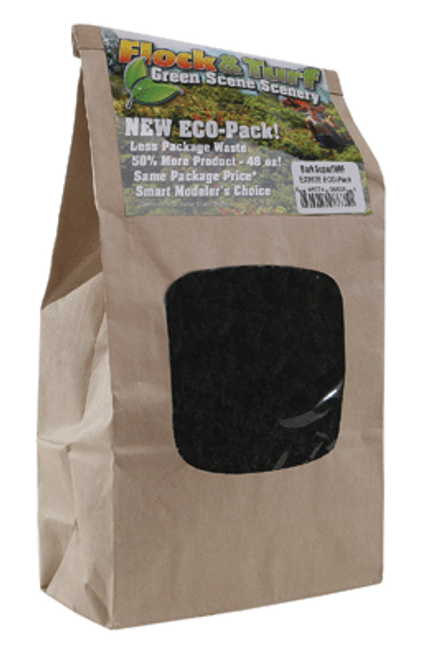 Scenic Express EX863E Flock and Turf Ground Cover, Forest Green SuperTurf 48 oz. ECO Pack