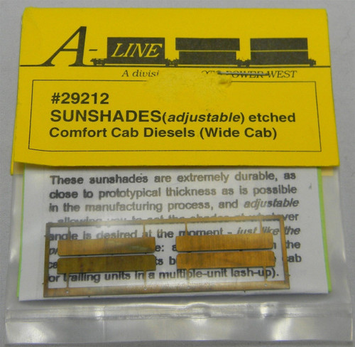 A-Line HO 29212 Adjustable Sunshades for Comfort Cab Diesels