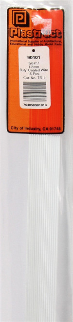 """Plastruct 90101 TB-1 Butyrate Coated Wire, 3/64"""" (15) (d)"""