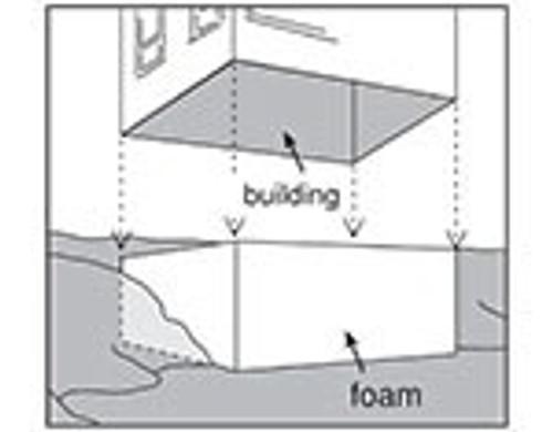 """Woodland Scenics ST1427 4"""" Foam Sheet"""