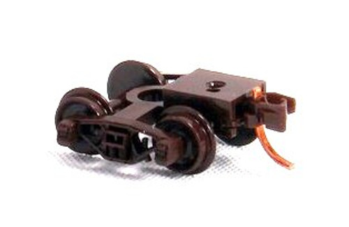 Micro-Trains N 00325021 (1000-10-B) Brown Bettendorf Trucks with Short Extension RDA Couplers (10 pairs, Assembled)